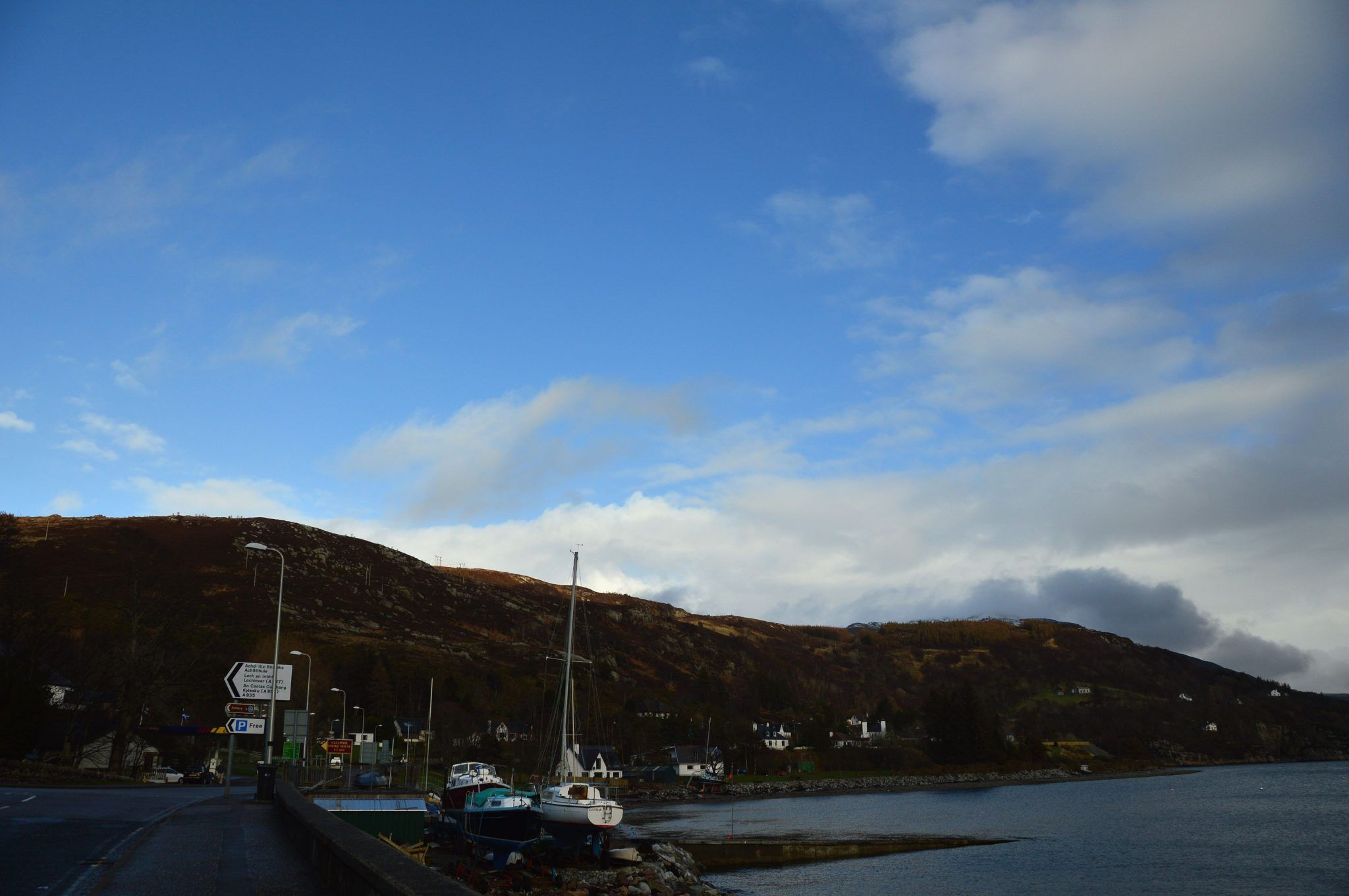 The Ullapool waterfront