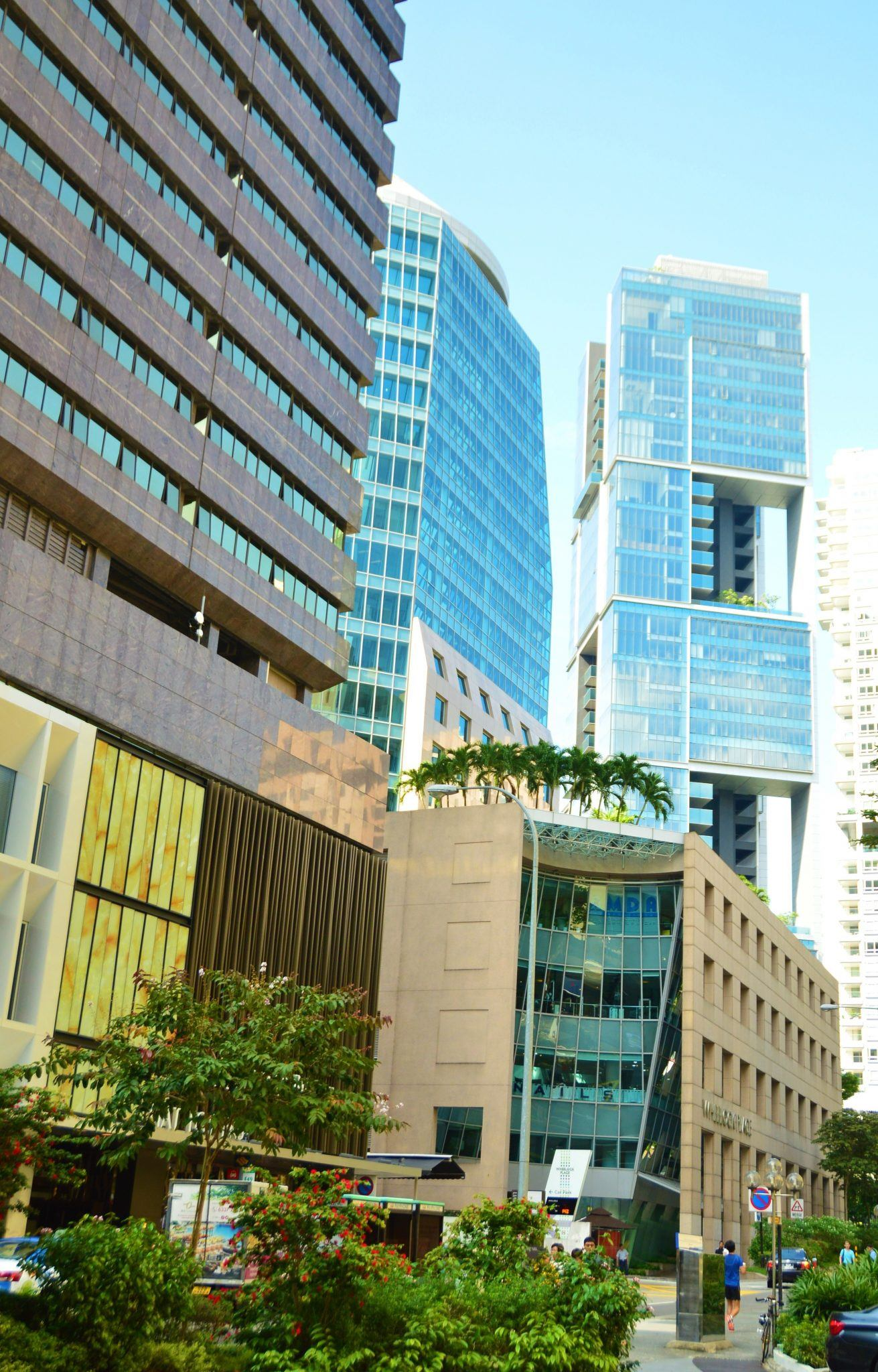 The buildings of Orchard Road