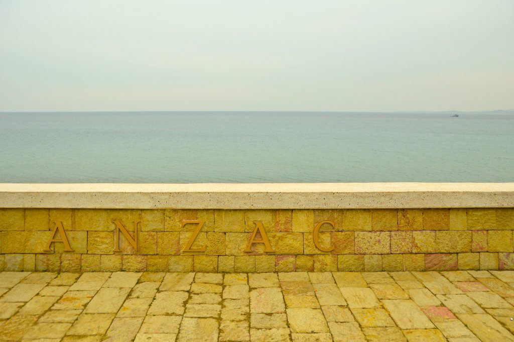 the sign for anzac beach gallipoli turkey
