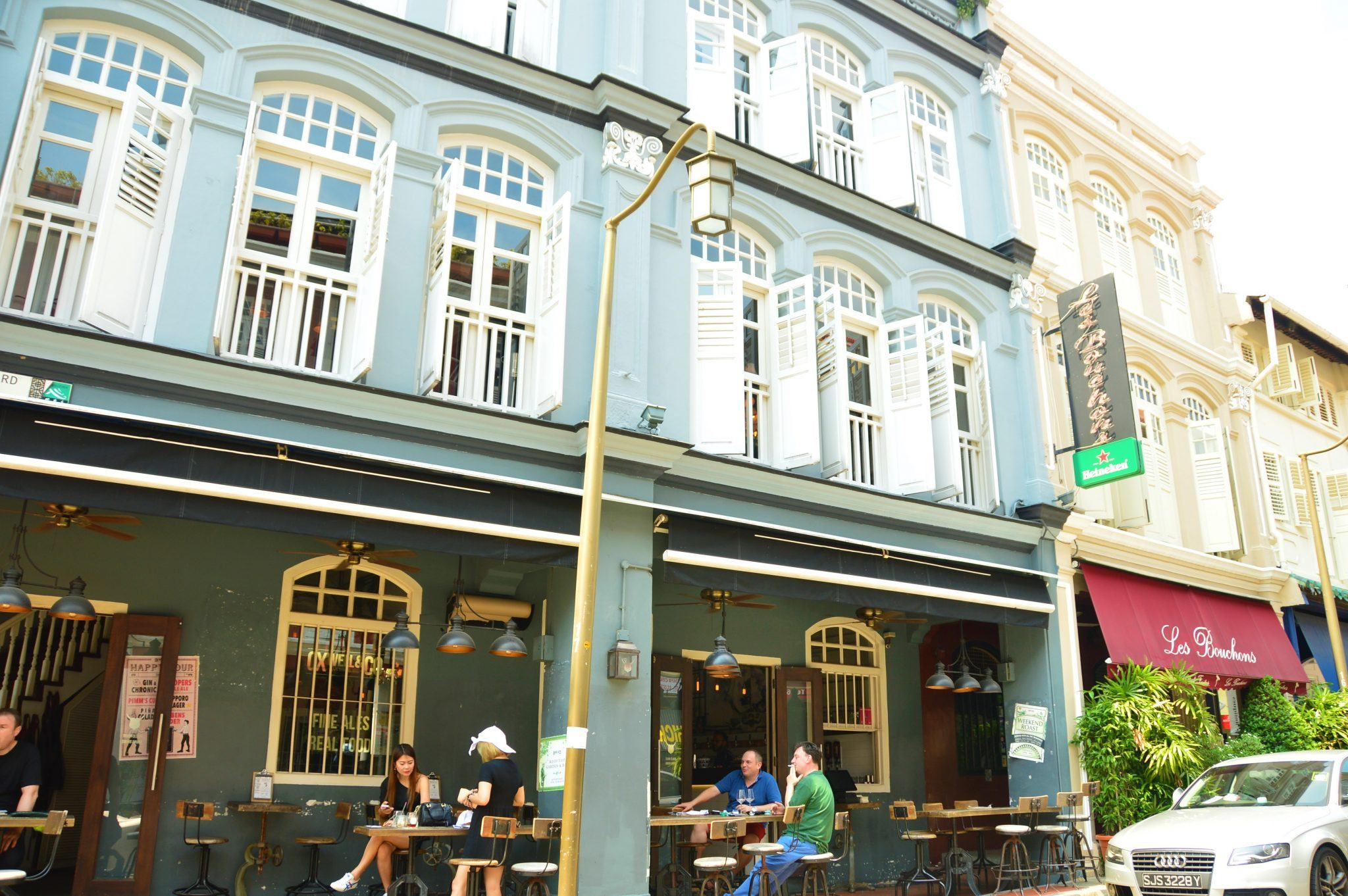 Ann Siang Road cafes and colonial buildings in singapore
