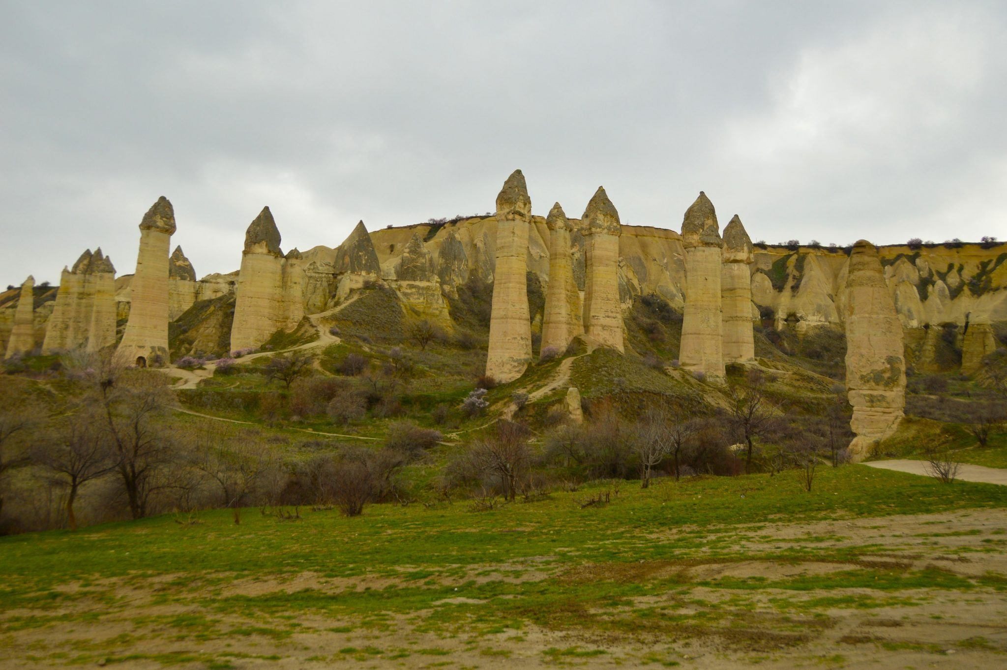 the love valley and its phallic statues in cappadocia