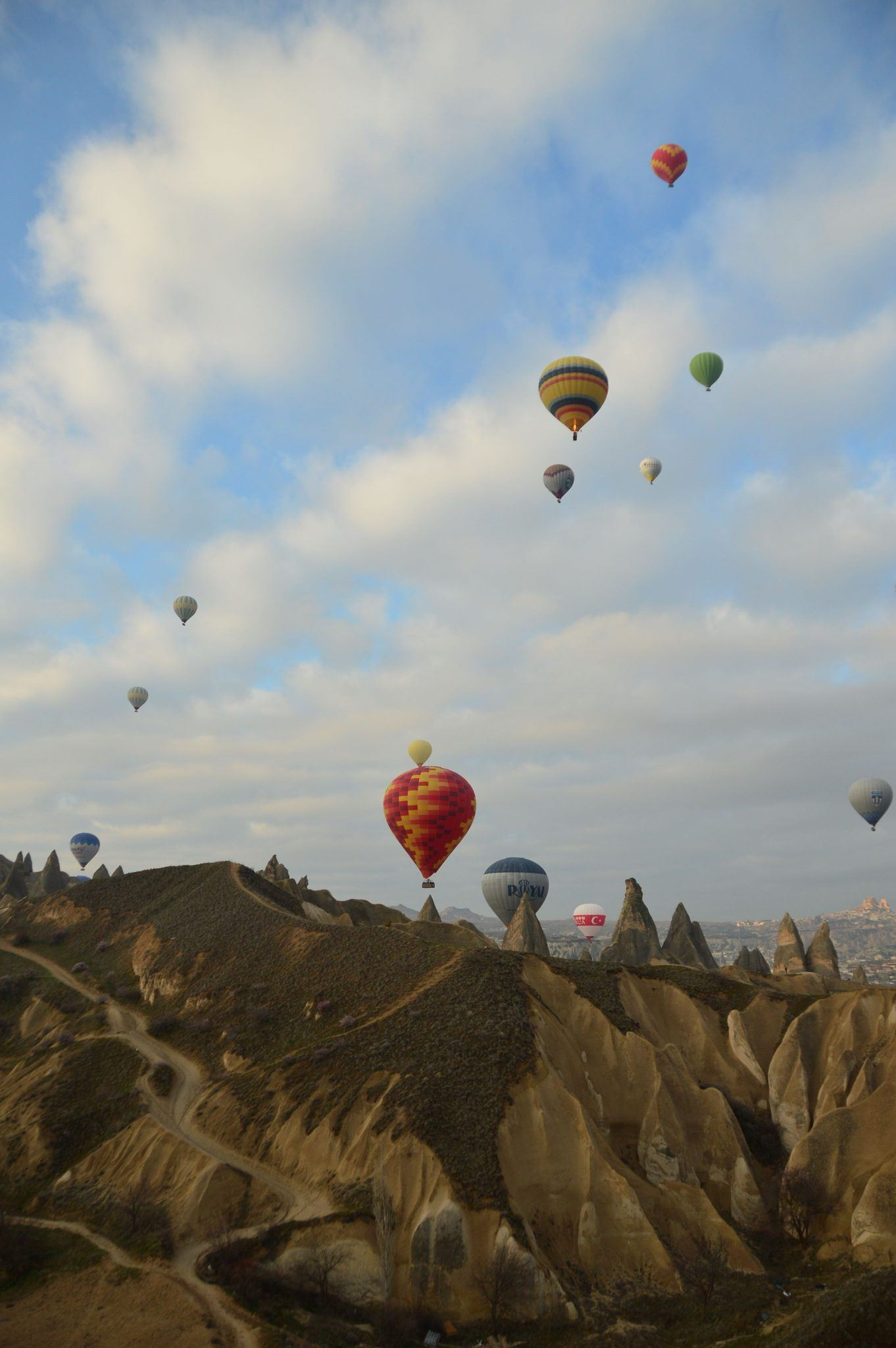 cappadocia hot air balloons against the sky