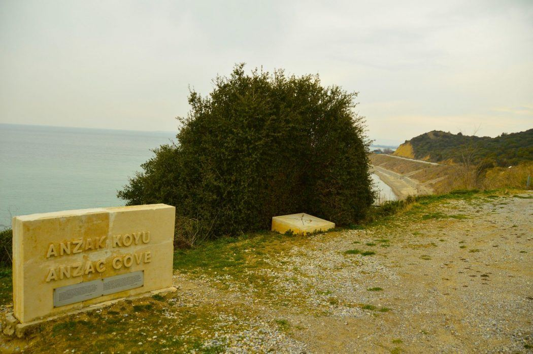 Anzac Cove on the Gallipoli Peninsula