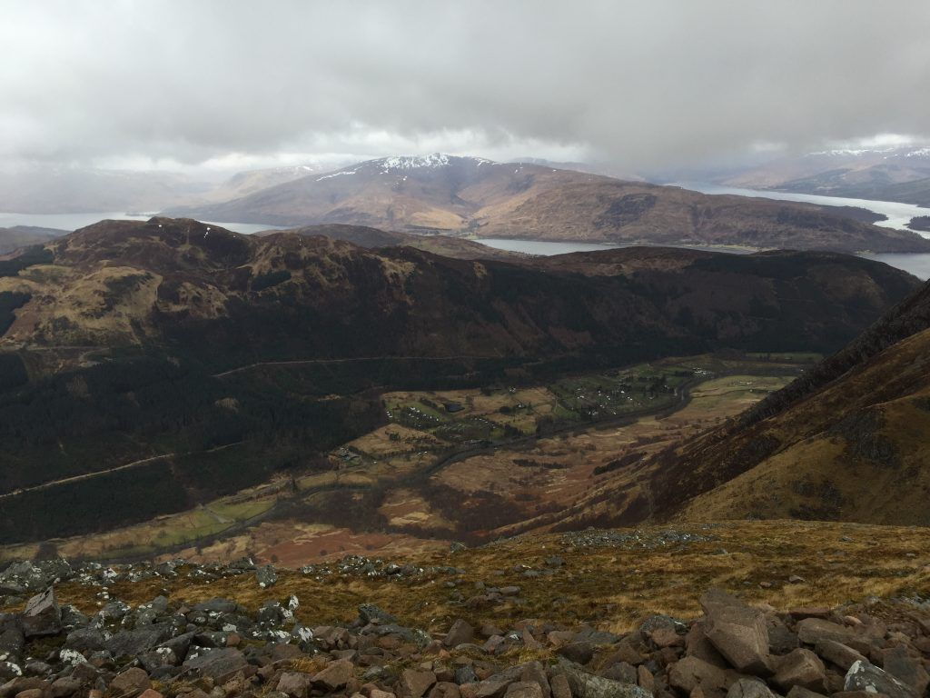 view over the mountain whilst climbing ben nevis
