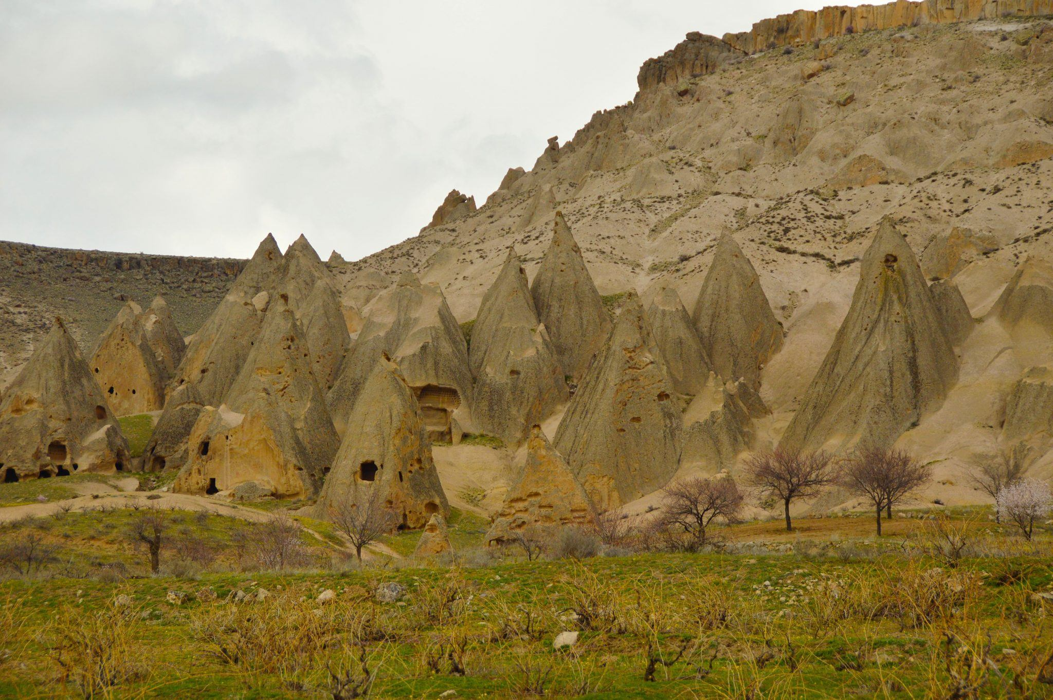 Ilhara Valley Chimneys in Cappadocia Turkey