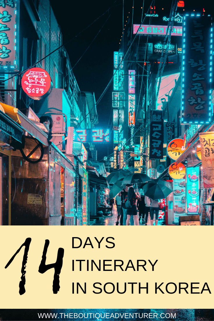 Seoul is, of course, the main point of entry for Korea and a great place to start your Korea Itinerary. Explore this country of Asia with my 14 days itinerary to discover the best of the country in 2 weeks. A must read before your trip to Korea #korea #travel #itinerary