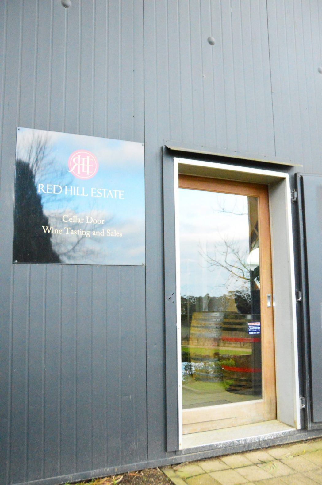 Entrance to Red Hill Winery Mornington Peninsula