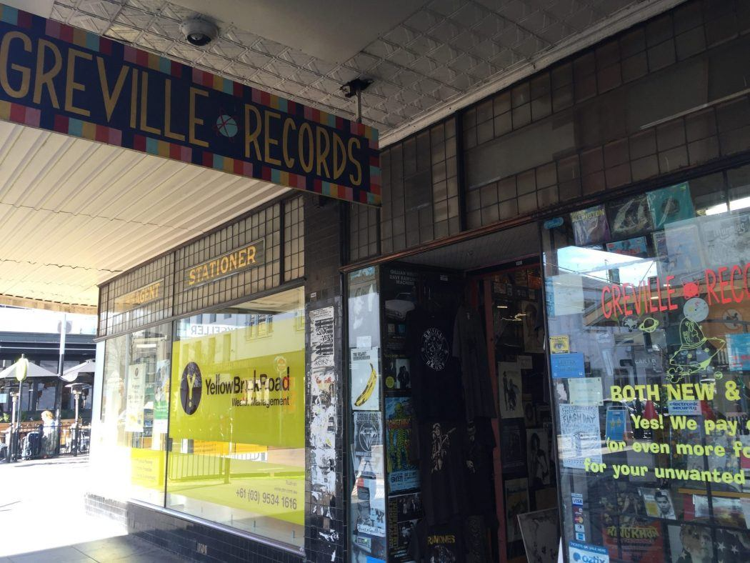exterior of Greville Records store in Prahran Melbourne