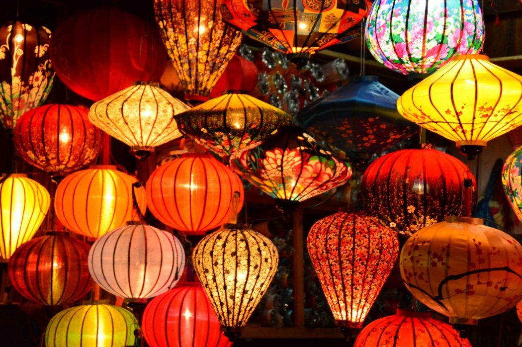 night market lanterns in Hoi An Vietnam
