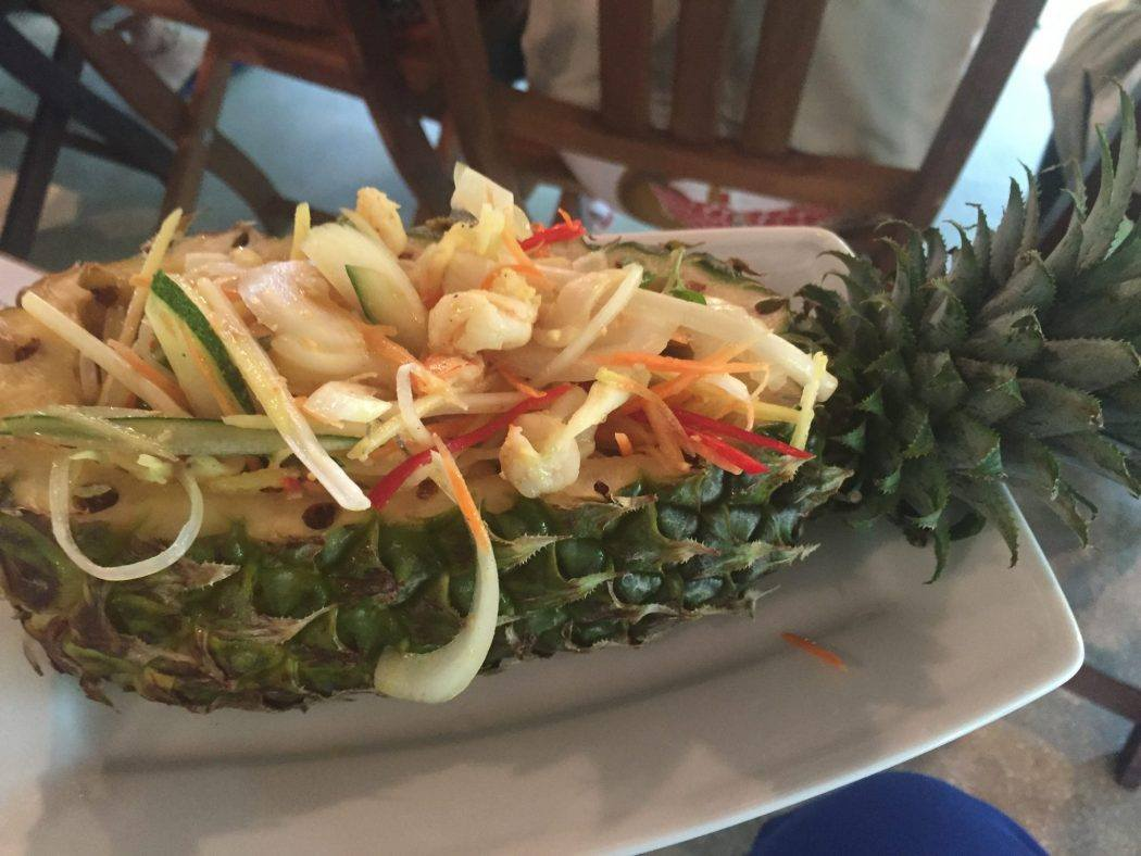 pineapple with curry inside at Red Bridge Cooking School Hoi An Vietnam