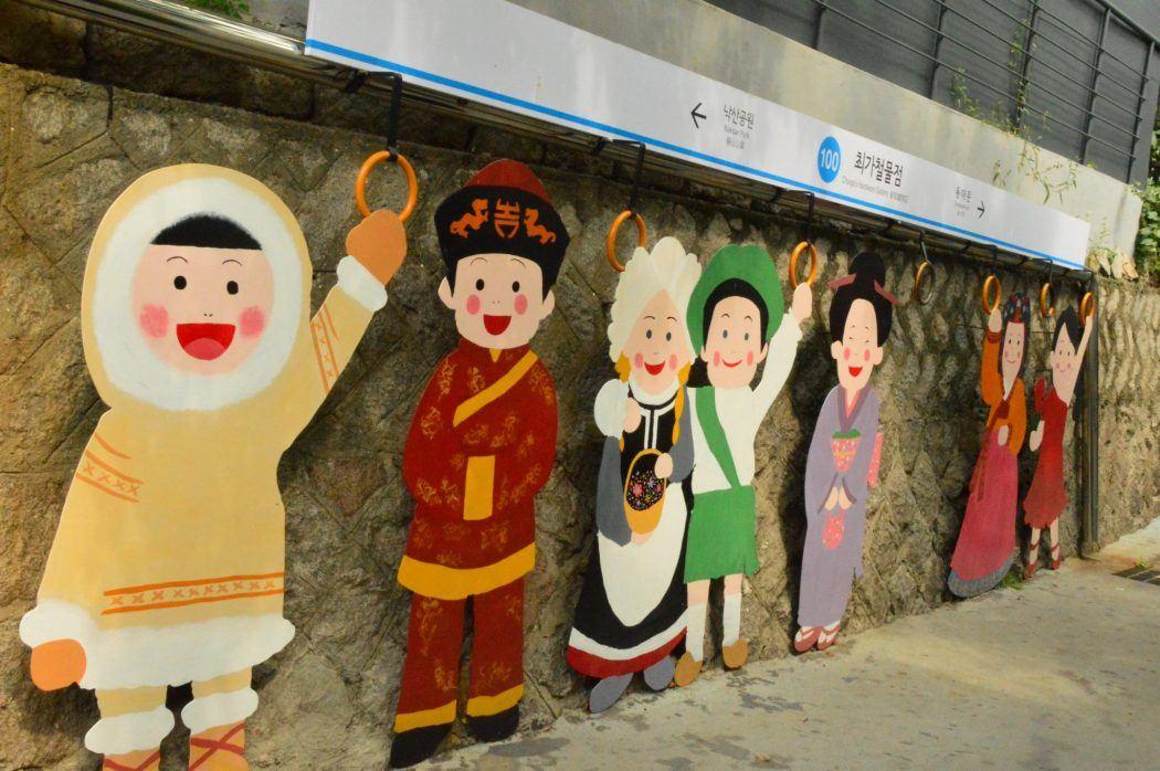street art characters in seoul korea