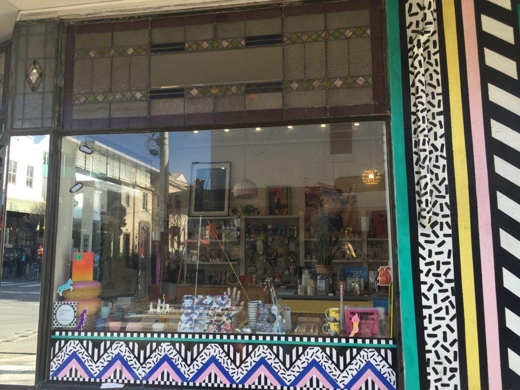 Colourful shop front on Greville street Prahran