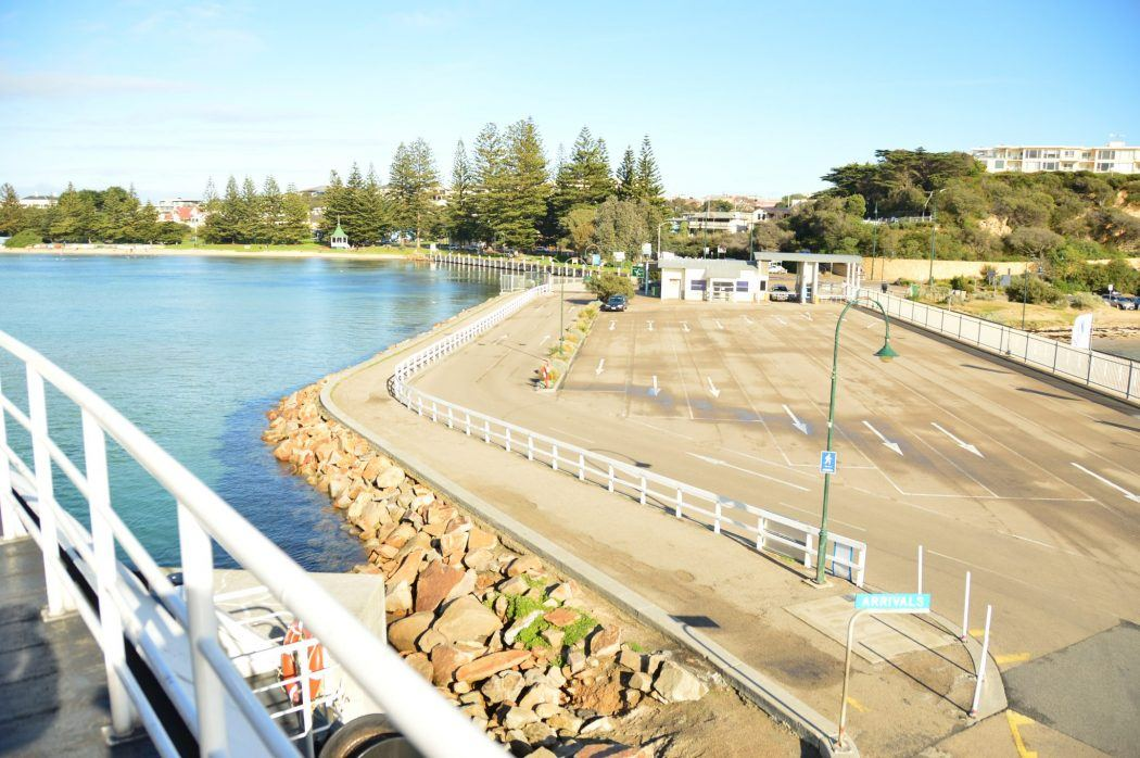 The area to pick up the Queenscliff Ferry in Sorrento