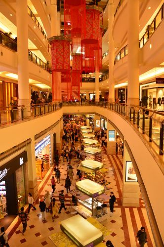 two floor inside a mall kuala lumpur