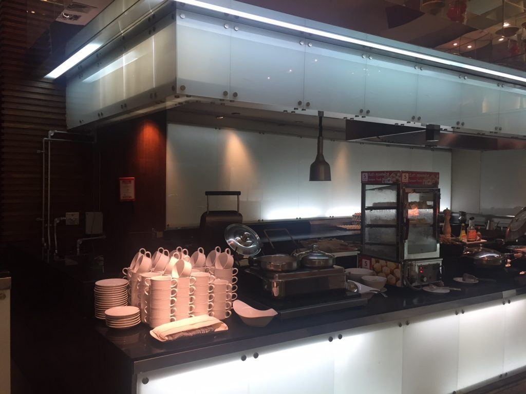kitchen and serving area for buffet at novotel near bangkok airport
