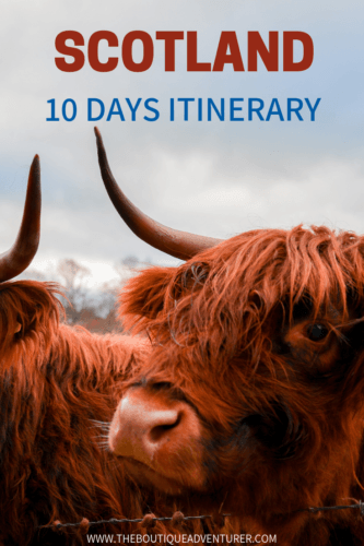 My 10 nights Scotland Road Trip Itinerary - from Glasgow to Durness to Thurso to Inverness by road. Where to stay & how long to spend in each area.