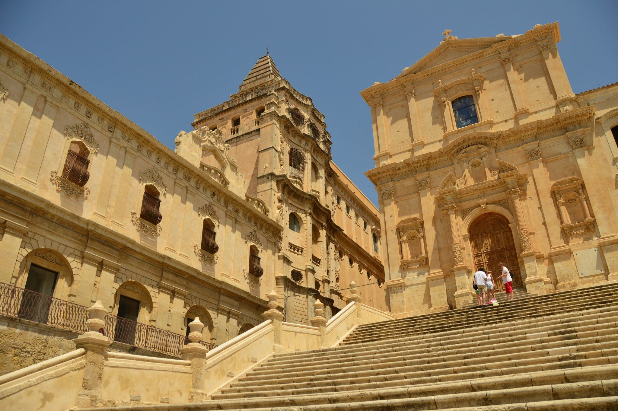 stairs leading up to a church in Noto