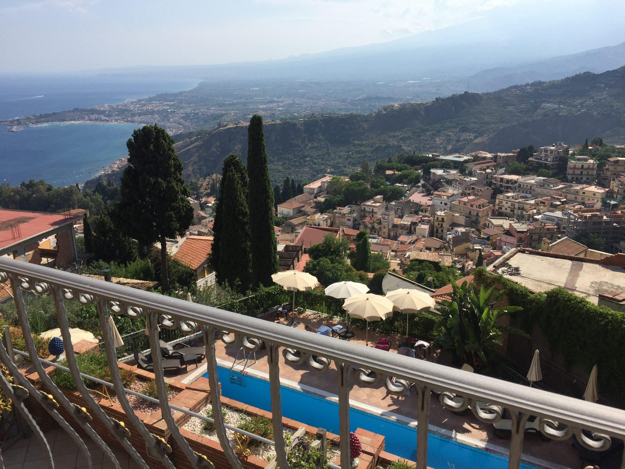 The view from Hotel Villa Angela over Taormina