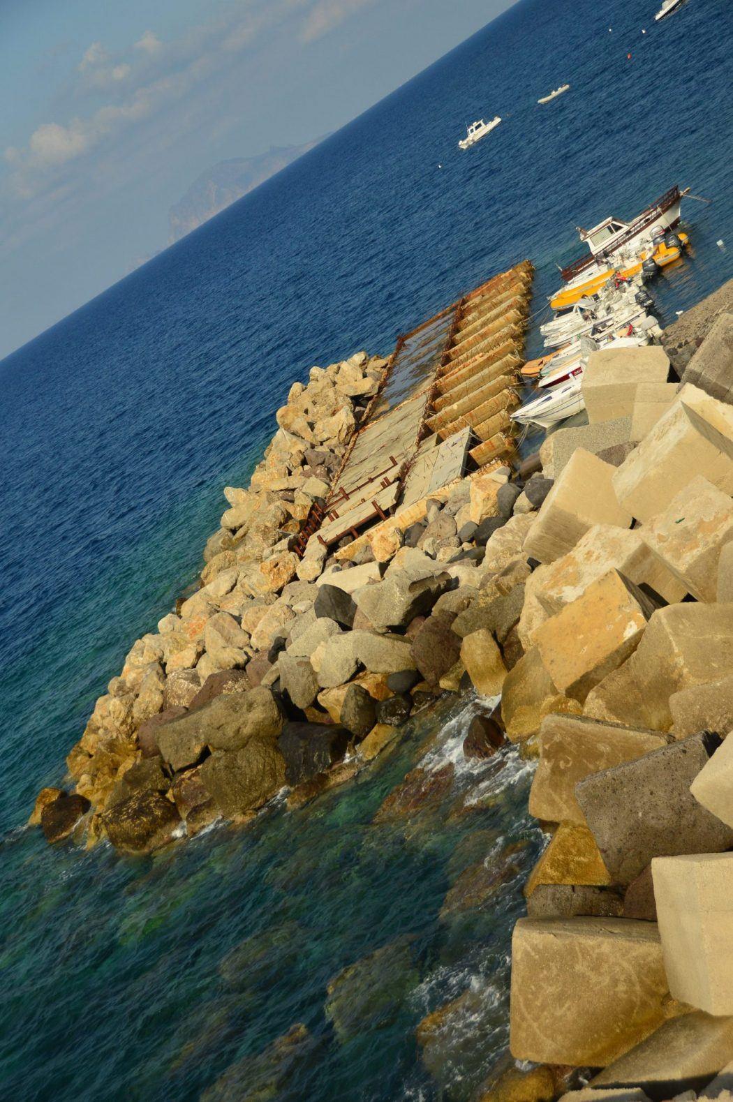 harbour on Malfa island aeolian islands sicily