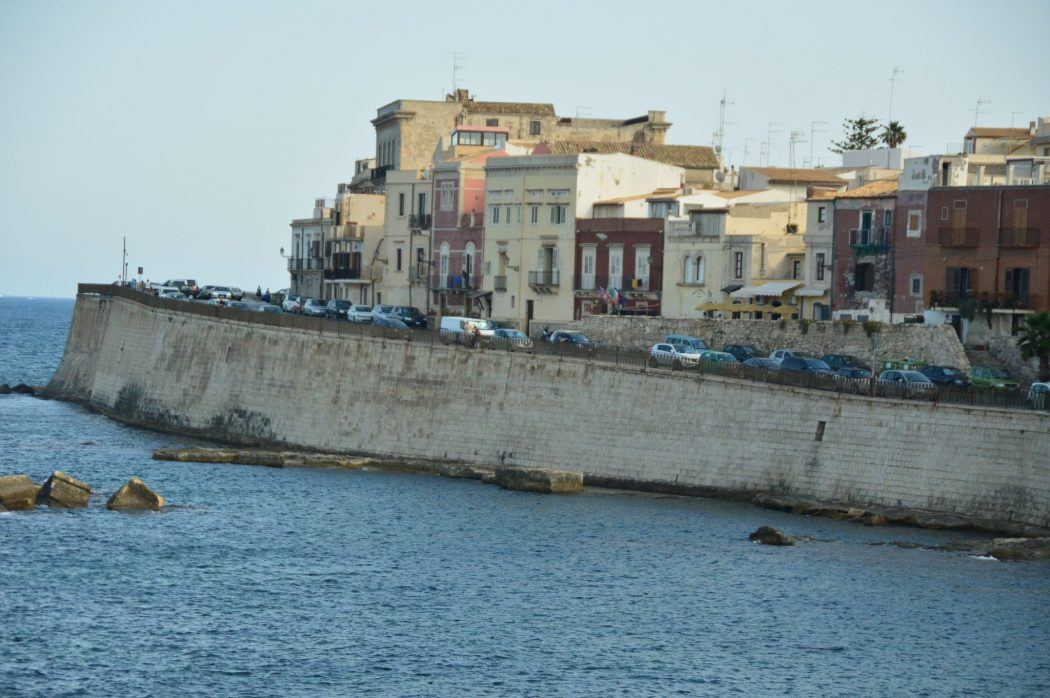 the waterfront in syracuse sicily italy