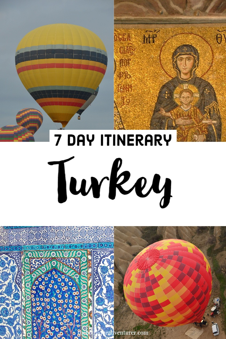 Looking for a Turkey Itinerary 7 days? Starting an ending in Istanbul this one week in Turkey itinerary includes several days in stunning Cappadocia & a day trip to Gallipoli #turkey