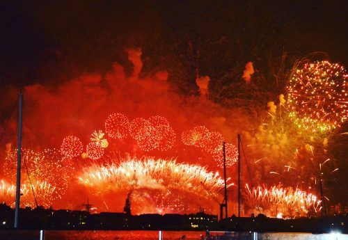 red and gold fireworks exploding over sydney harbour bridge top 10 sydney tourist attractions