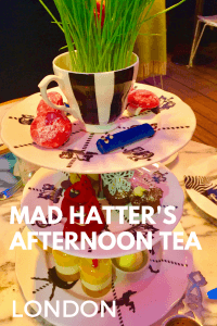 Looking for an afternoon tea with a difference in London? Head to The Sanderson Hotel in London for an amazing afternoon tea themed to Alice in Wonderland #madhatterlondon #londonafternoontea #londonfunafternoontea #sandersonafternoontea
