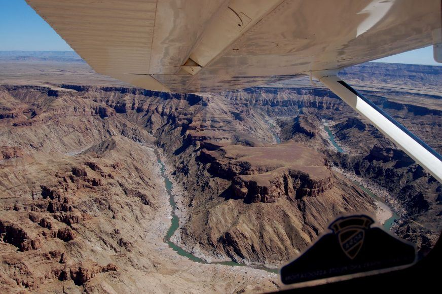 Fish River Canyon by light plane