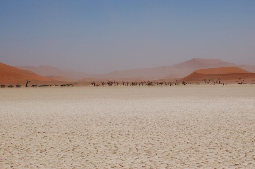 The view of Dead Vlei from afar