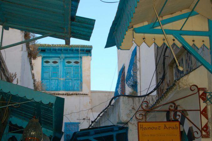 The back streets of the Medina