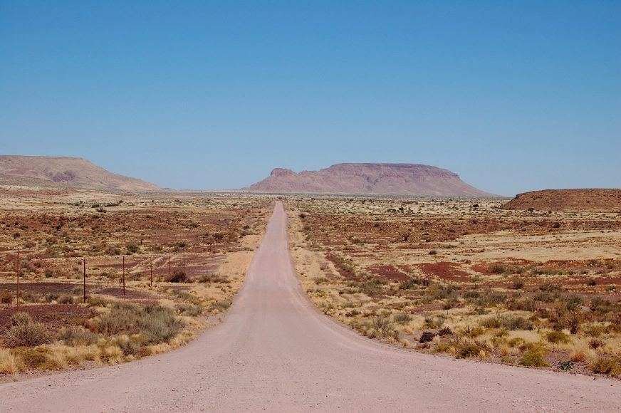 The road to Fish River Canyon