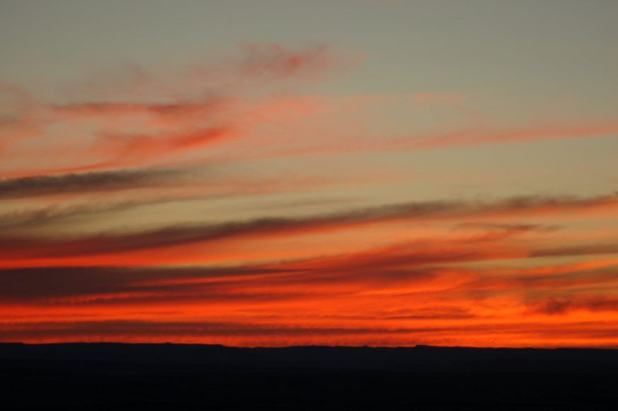 Sunset over Fish River Canyon