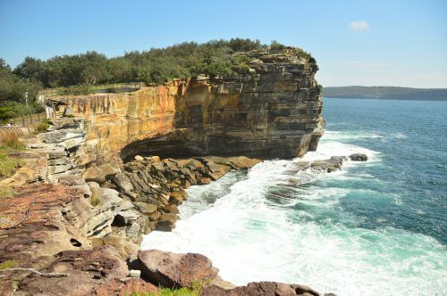 cliff and coastline the gap sydney
