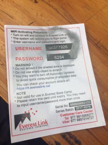 back of everest link wifi card