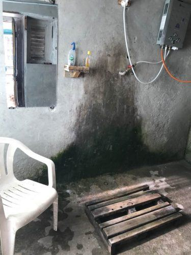 shower with a chair in it everest base camp trek