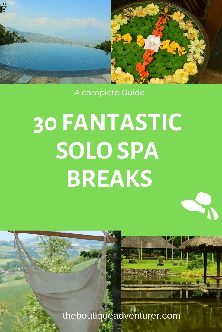 Personally, I LOVE solo spa breaks. One week to 10 days is ideal for me. Or even a weekend. Or a night! And a spa holiday is such a good thing to do as a solo traveler. You will almost always find other solo travelers when you hit the spa and you will pretty much never feel odd as a solo traveler. The only issue is that sometimes they don't have wine but of course I will be focusing on places that do and will highlight any solo spa breaks options that don't!