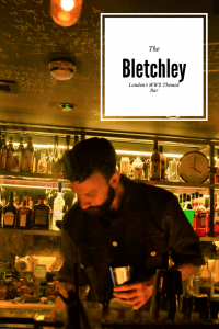 Looking for a quirky bar in London? Check out one of London's best themed bars - The Bletchley. Immerse yourself in the WW2 london spirit in this immersive bar with delicious cocktails #themedbarslondon #ww2london #londonbars #thebletchleylondon