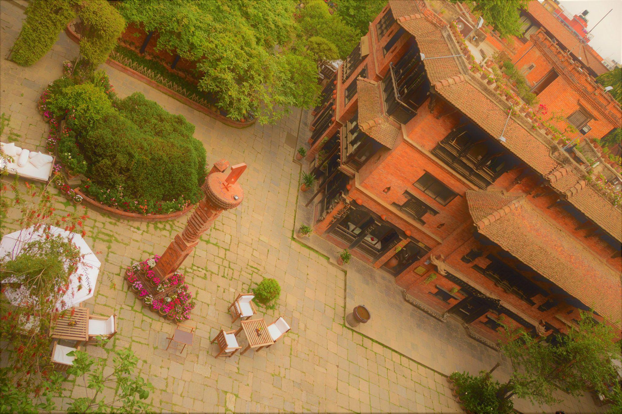 dwarika's hotel in kathmandu courtyard
