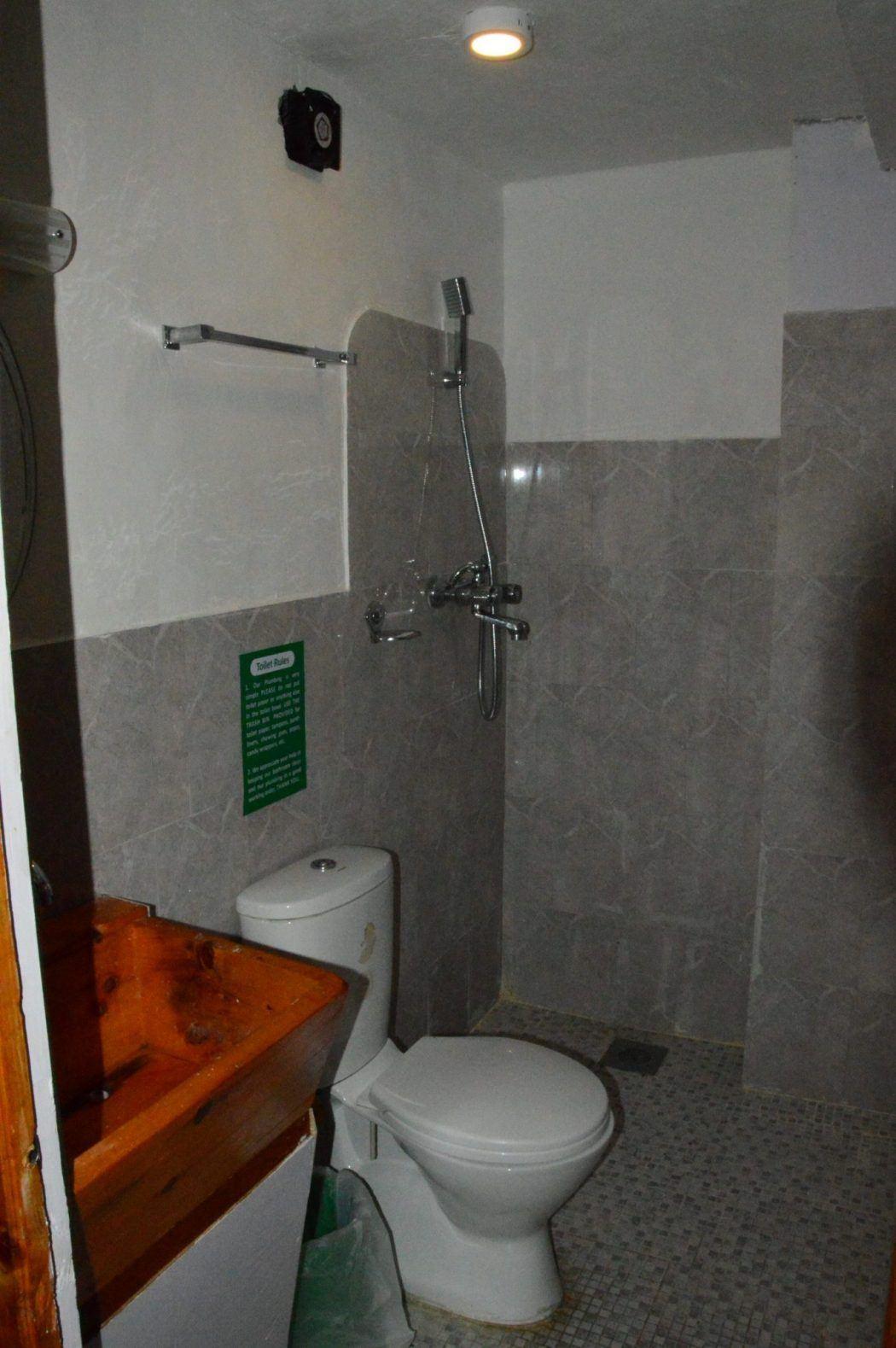 bathroom at green tara tea house nepal