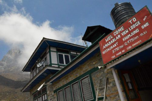 Tea house in Khumjung Nepal