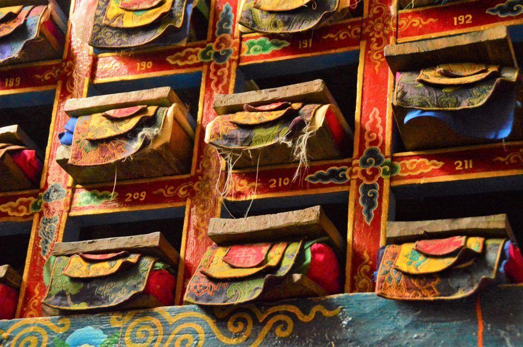Prayer Books at Khumjung Monastery Nepal