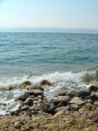 Dead sea and rocks