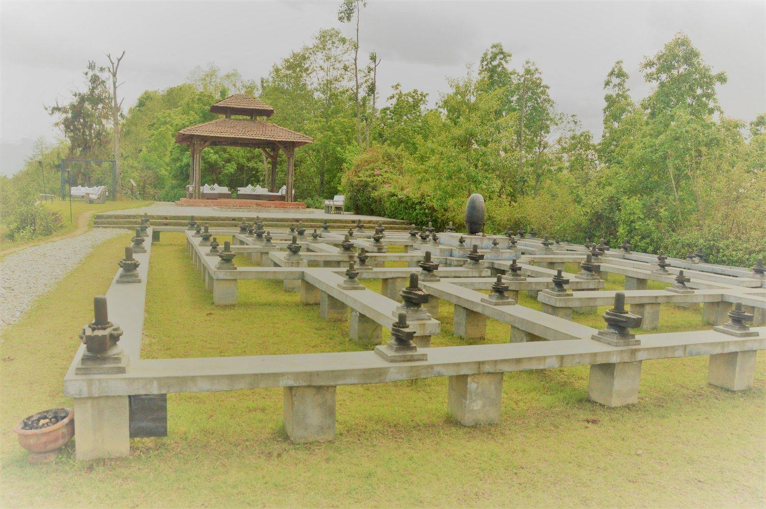 outdoor meditation maze at dwarika's resort dhulikhel