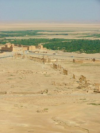 View over Palmyra from the castle