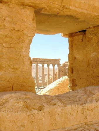 Looking through to the Temple of Bel