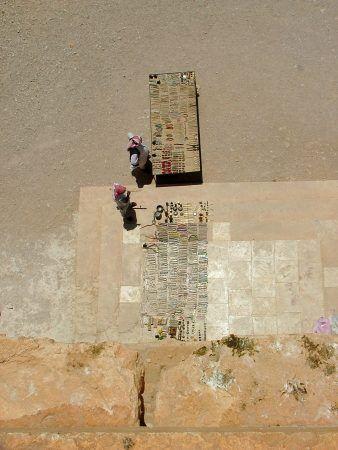 Souvenir sellers at palmyra