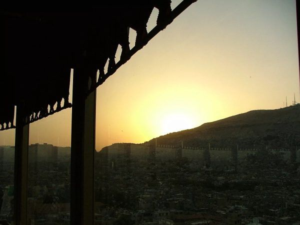 Sunset over Damascus