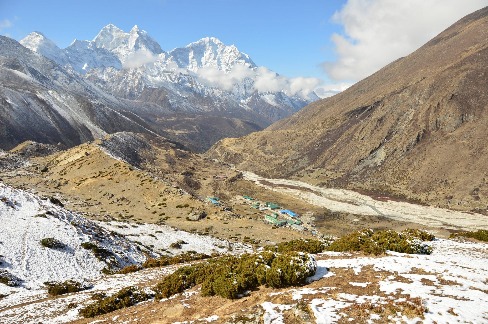 Stunning views on Day 7 of the Everest Base Camp Trek