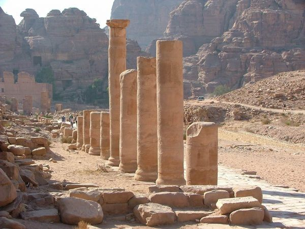The main street of Petra