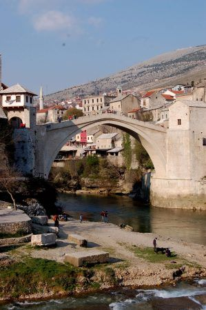 Mostar Bridge Portrait Style